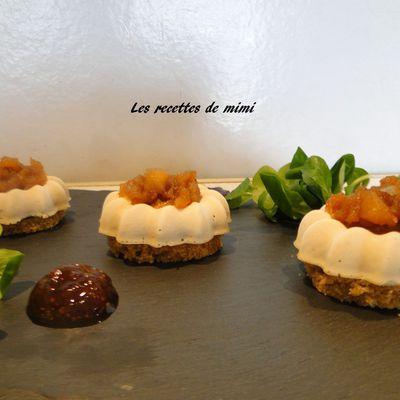 Panna Cotta de Foie gras aux pommes caramélisées