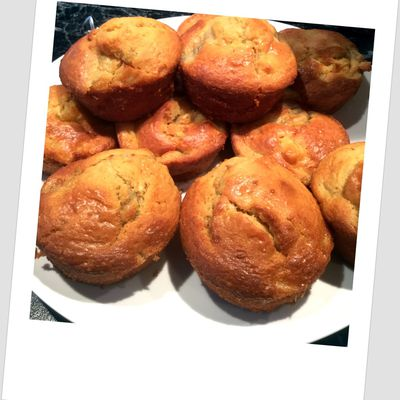 Muffins ultra moelleux pomme/banane.