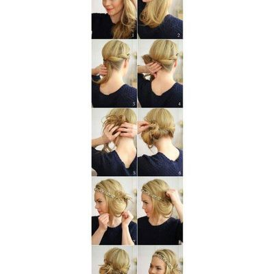 tutoriel coiffure simple ♥