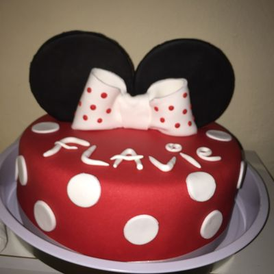 gateau minnie bapteme