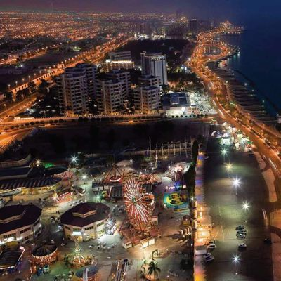 Beautiful Night View of Jeddah