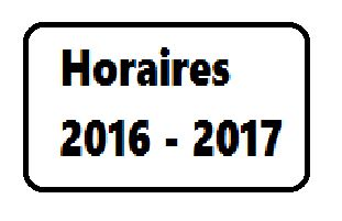 Horaires 2016-2017