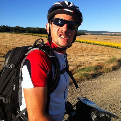 Thierry sur son Vélo.