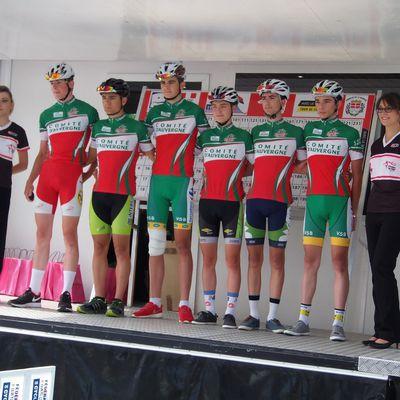 Les juniors selectionnés en équipe d'Auvergne