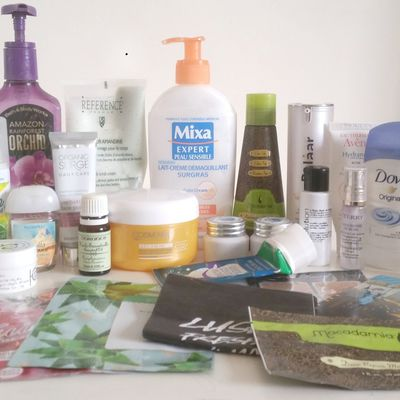 Mes produits terminés d'Avril, partie 2: l'occitane, Macadamia, bath and body works...