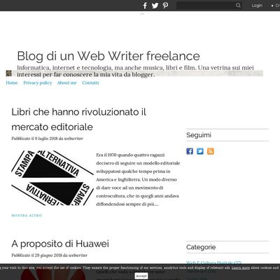 Blog di un Web Writer freelance