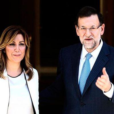 ESPAÑA: Las grandes naciones no necesitan grandes hombres solo que sean honrados -- Moncloa llamó a Susana Díaz (Omaita) para confirmarle que el Gobierno salía al rescate de Abengoa -- La líder socialista vinculó la salvación de la compañía andaluza con permitir la continuidad del actual Ejecutivo a través de la abstención del PSOE en la investidura de Rajoy -- ¡¡Castuzos mafiosos!! Malditos sean Y atención al dato: Felipe VI conocía a través de su padre los movimientos golpistas de Susana Díaz en el PSOE