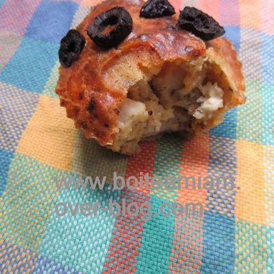 Muffins fêta et légumes séchés