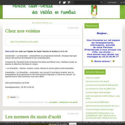 Le blog de la paroisse St Géraud des vallées en Fumélois
