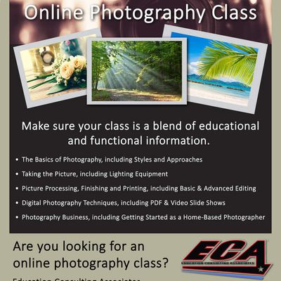 What To Look For In An Online Photography Class