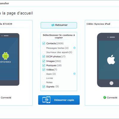 Comment transférer photos de Android à iphone