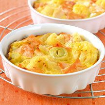 Clafoutis de saumon aux légumes Weight Watchers  5 💚 2 💙💜