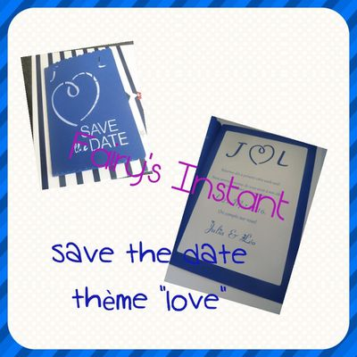 """Save the date """"love"""""""