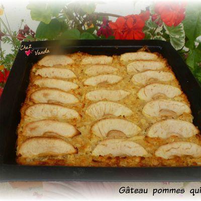 Gâteau pommes quinoa