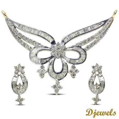 White Gold Diamond Mangle Sutra in Karol Bagh Delhi- Djewels.org