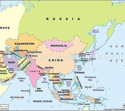 Nama-nama Negara di Benua Asia