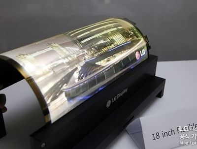 New Videos/pictures LG-Display foldable 18 inch OLED Display