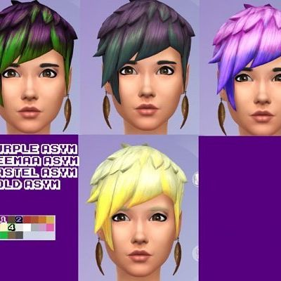Hair recolors by James at GothFamilySwag