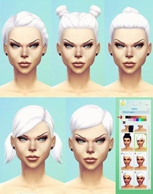MF SIMS Intense White Ts4 Hair Retextures at Missfortune Sims