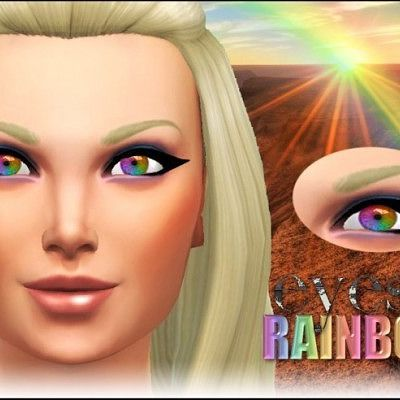 Rainbow exotic eyes at Pink Zombie Cupcake