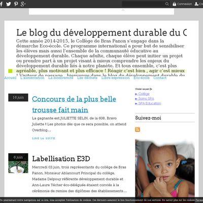 Le blog du développement durable du Collège de Bras Panon