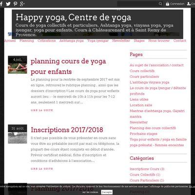 Happy yoga, Centre de yoga