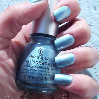 Swatch Holographic China Glaze Don't be a luna-tic