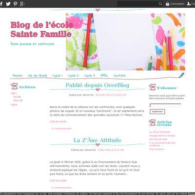 Blog de l'école Sainte Famille