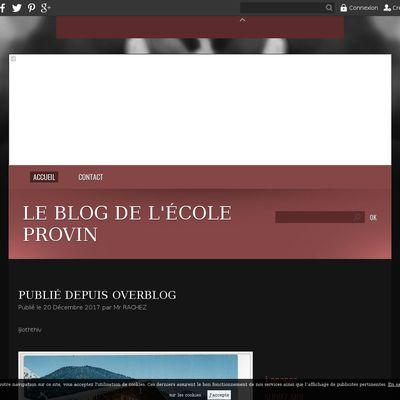 Le blog de l'école Provin