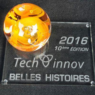 Remise du prix 'Belle histoire' de TechInnov 2016