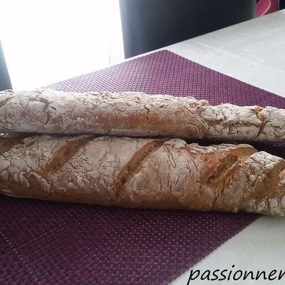 pain sans pétrissage ( aux céréales)