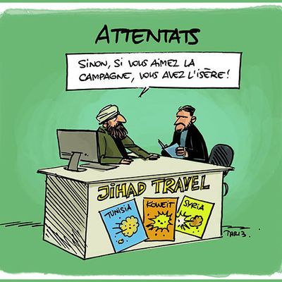 DESSIN de TARTRAIS : Jihad Travel !