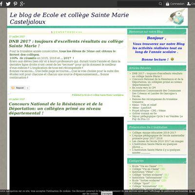 Le blog de Ecole et collège Sainte Marie Casteljaloux