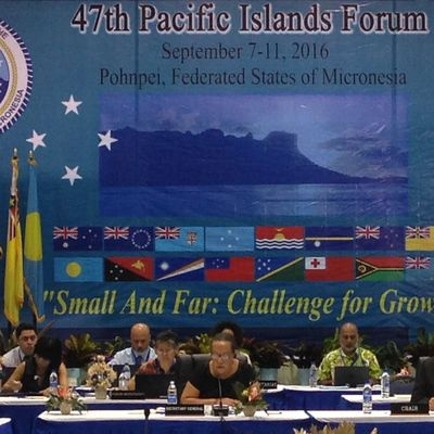 Question of the integration of New Caledonia as a full member of the Pacific Islands Forum