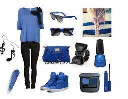 Look en bleu