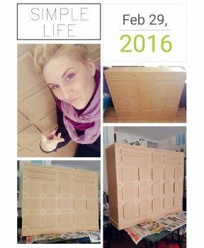 Meuble en carton a tiroirs : l'Apotyker