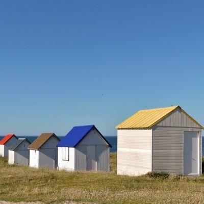 Gouville sur mer ( les cabines de plage ) Photographie