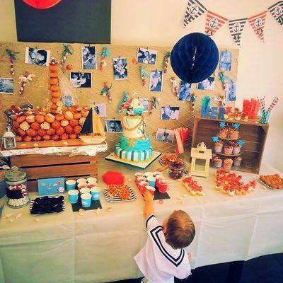 Sweet table pour le baptême du petit marin