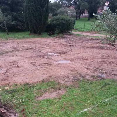 Debut du chantier - le terrassement