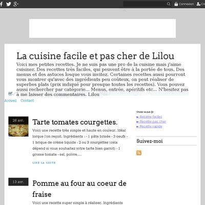 La cuisine facile et pas cher de Lilou