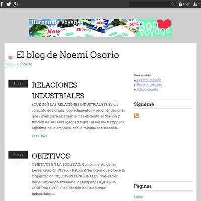 El blog de Noemi Osorio