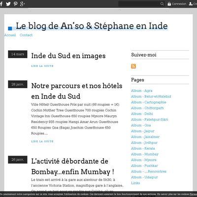 Le blog de An'so & Stéphane en Inde