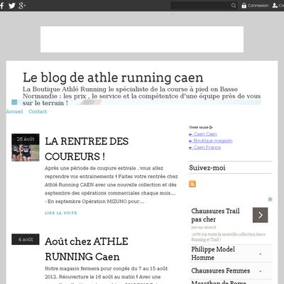 Le blog de athle running caen