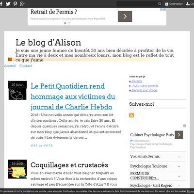 Le blog d'Alison