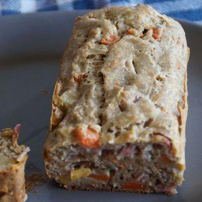Cake aux légumes/gruyère et jambon