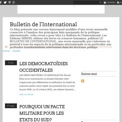 Bulletin de l'International