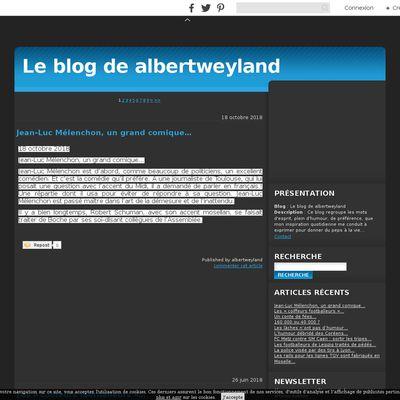 Le blog de albertweyland