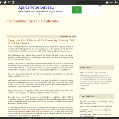 Car Buying Tips in California