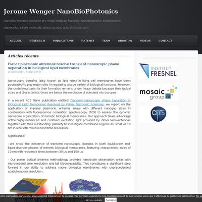 Jerome Wenger NanoBioPhotonics