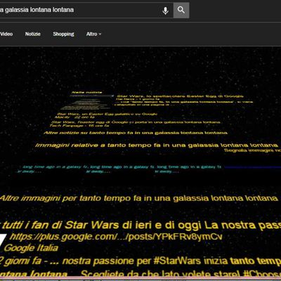 Google e l'Easter Egg di Star Wars